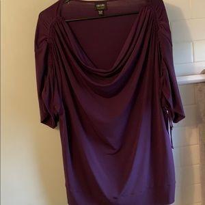 Nicole Miller blouse XL purple